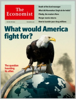 Cover of Economist Magazine May or June 2014